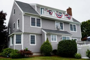 New vinyl siding installed by MA siding installers Marshall Building & Remodeling
