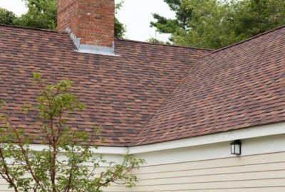 CertainTeed Max Def Shingled Roof on Tan Home in Massachusetts