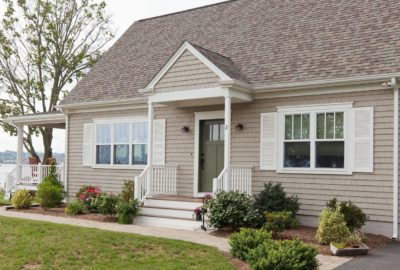Modern Siding with a Natural Wood Feel Installed by RI & MA Vinyl Siding Contractors at Marshall Building & Remodeling