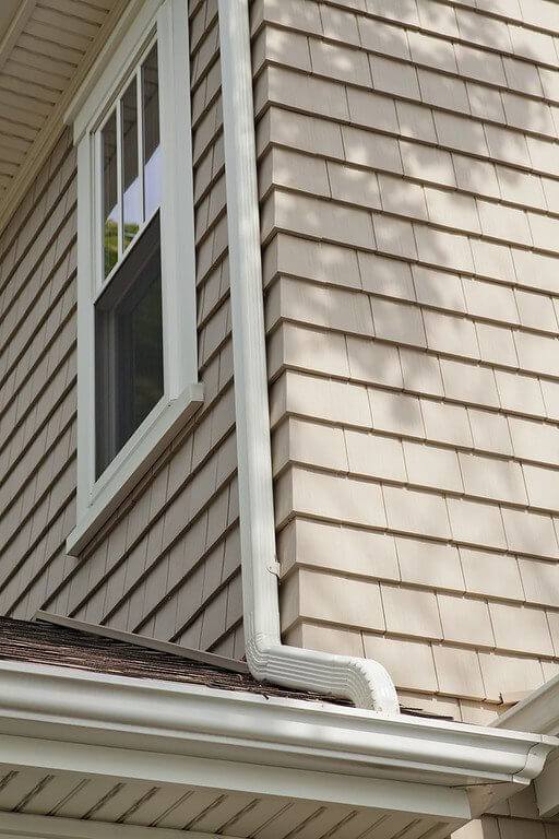 Siding, Gutters, & Trim details on a home in MA by Marshall Building & Remodeling