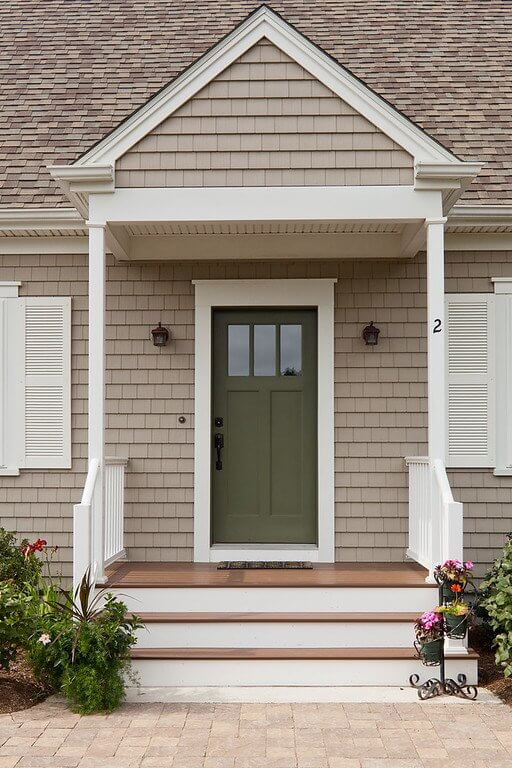 Cedar Impressions Siding in Natural Clay Installed by Marshall Building & Remodeling on a home in RI