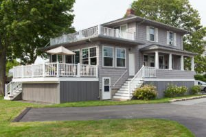 Light Gray Cedar Impressions Siding Installed on RI House by Marshall Building & Remodeling