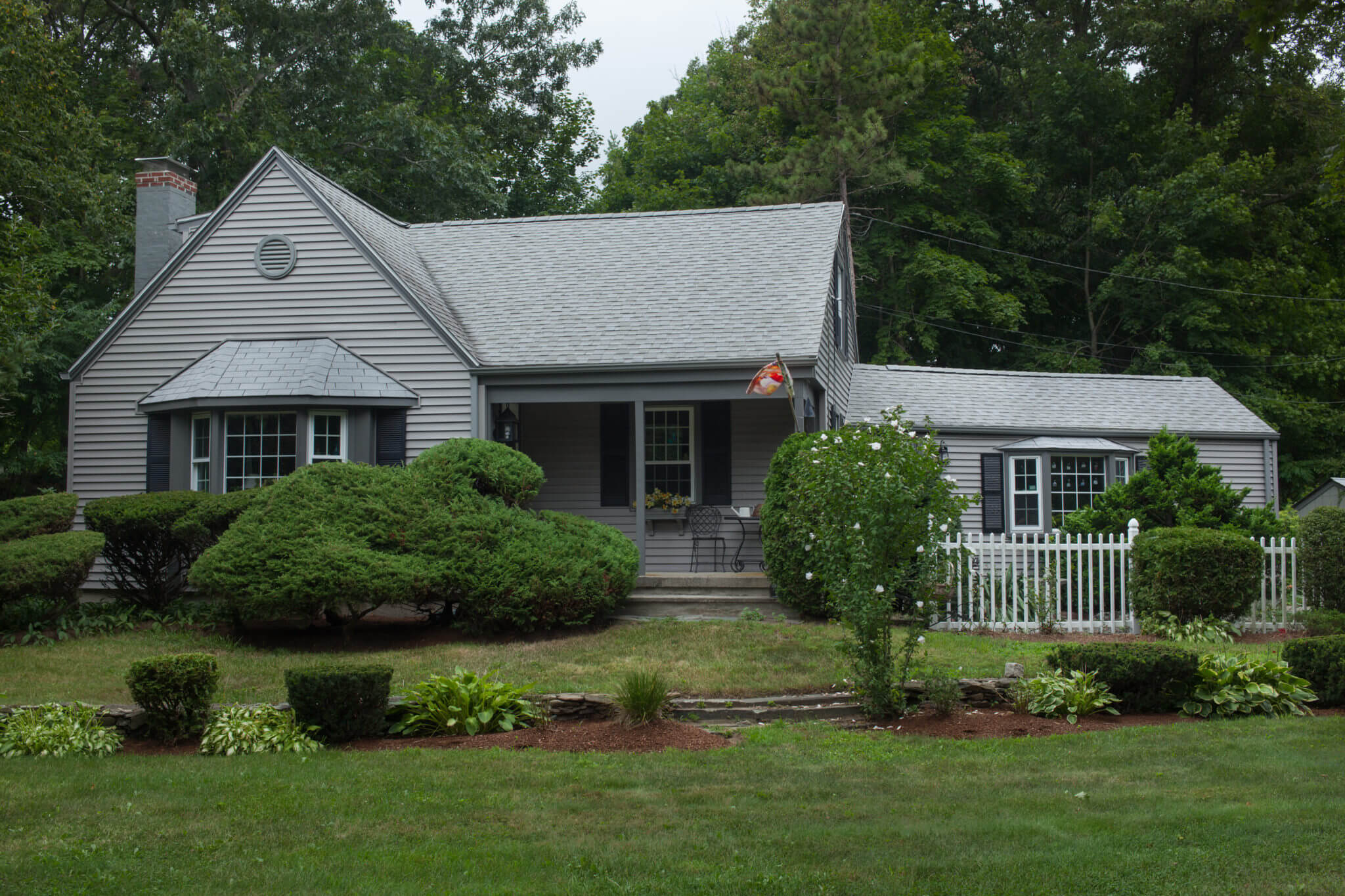 Roofing & Siding in Gray Installed on a Massachusetts Home by Marshall Building & Remodeling