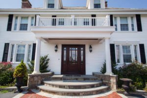 White Siding and Windows Installed in Rhode Island by Marshall Building & Remodeling