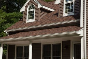 CertainTeed Sable Brown Siding and Burnt Sienna Roof Installed on RI Home