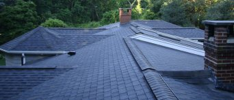 Top View of a Roof by Roofing Contractors in RI & MA