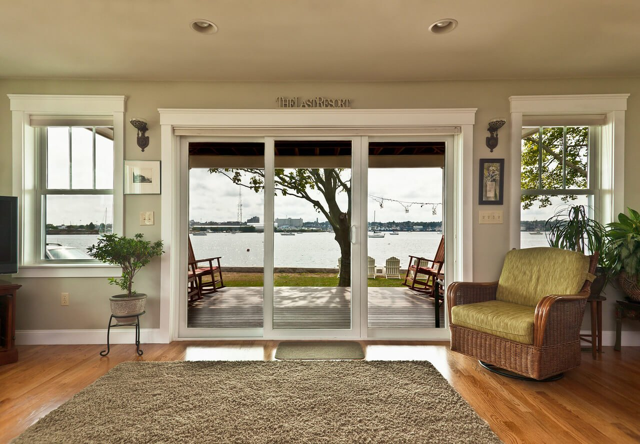 Large Windows Installed on Waterfront Home by Marshall Building & Remodeling