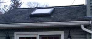 Zinc Strips Installed on a Roof to Prevent Moss on houses in RI & MA