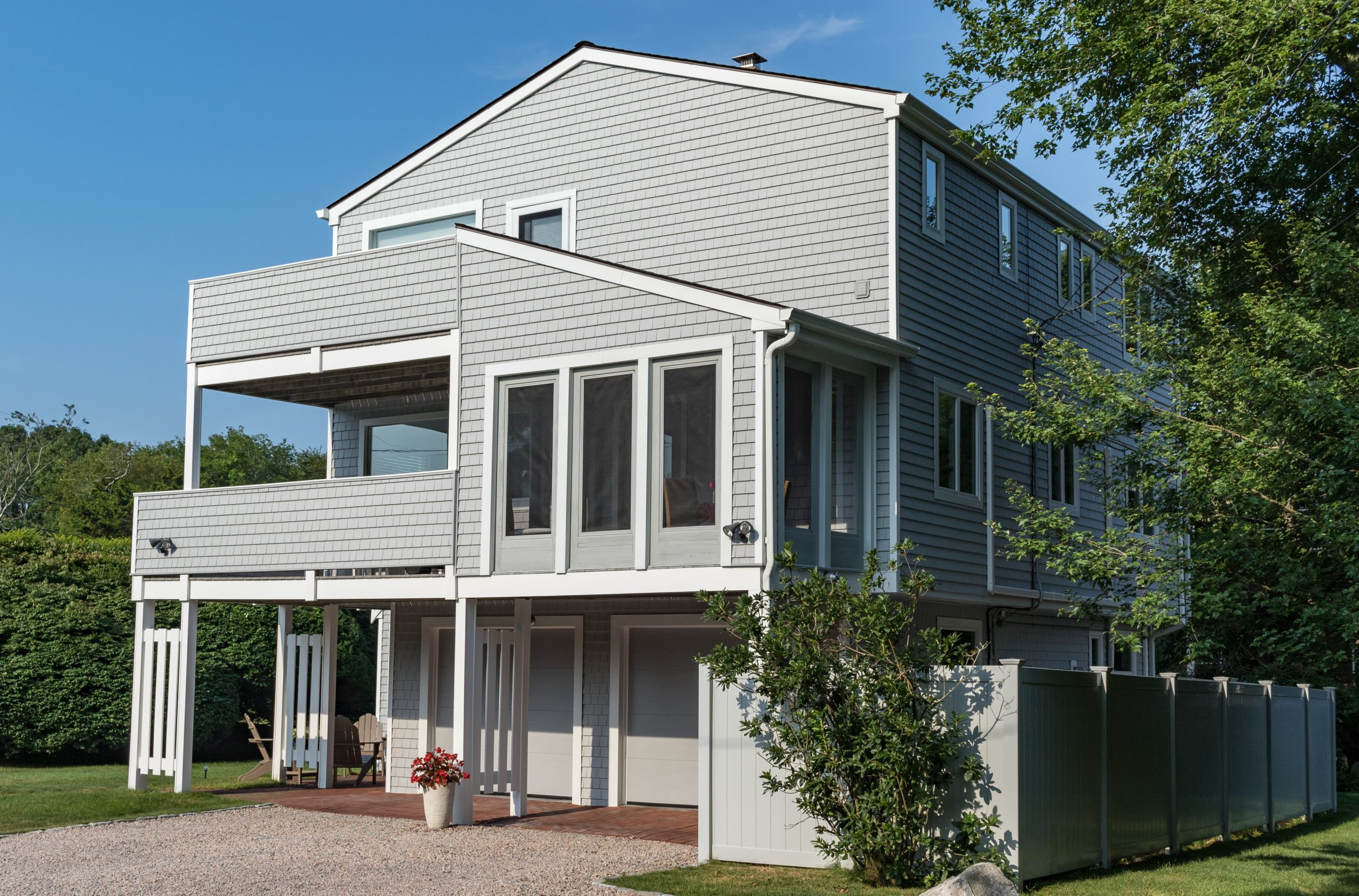 Capizzano Siding Case Study After Photo in Cedar Impressions Sterling Gray